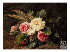 Study of Roses Giclee Print by Gerardina Jacoba Backhuysen at Art.com