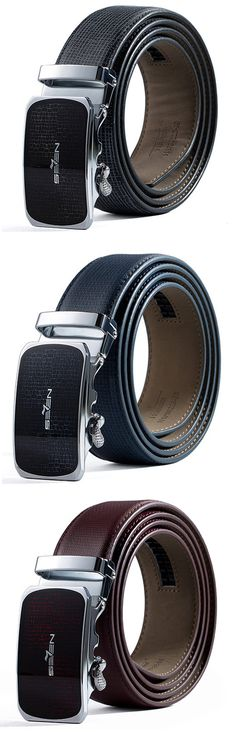 QIPAI 125CM Men Cow Leather Business Belts High Quality Automatic Buckle Male Strap Cinto Masculino