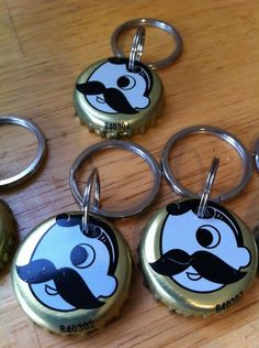 a keychain from the land of pleasant living Natty Boh, Diy Keychain, Simple Gifts, Bottle Crafts, Baby Shower, Diy Crafts, Personalized Items, Cool Stuff, Unique Jewelry