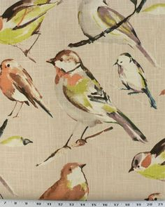 Birdwatcher Linen | Online Discount Drapery Fabrics and Upholstery Fabric Superstore!