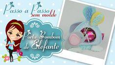 Porta Bombom de Elefantinho com Balões de Biscuit - Pesso a Passo com Bi...