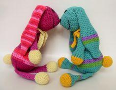 """Amigurumirabbit ,crochetrabbit """"Rozina&Fülöp Amigurumi Toys, Dinosaur Stuffed Animal, Crochet, Animals, Accessories, Animales, Animaux, Ganchillo, Animal"""