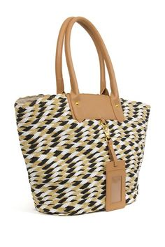 Weave Paper Straw Double Handle Tote by Magid on @HauteLook