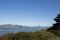 Golden Gate Bridge, view from Land's End Trail in San Francisco, California