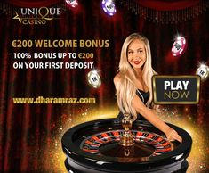 Double your fun and thrills with our welcome bonus package. Make your first deposit at Unique Casino and we will double your money, granting you a matching bonus of 100% up to €200. Deposit €200 and play with €400. Play Now https://bit.ly/2rpIBEF #UniqueCasino #onlinecasinobonus #onlinecasino #poker #roulette #blackjack #slots #bingo #spins #Dharamraz