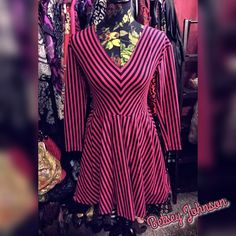 1 HR SALE VTG Betsey Johnson Rockabilly Dress Swing style fit and flare 50s style skater rockabilly dress in black and hot pink stripes. Gothic, retro, swing, burlesque, punk ...   I offer a 20% off discount on bundles of 2+ items and accept reasonable offers. Sale ends 8:45pm on 2/28 hurry and grab it. Betsey Johnson Dresses Long Sleeve