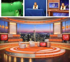 Virtual Studio Sets - News Set. News Backgrounds. Tv Set Design, Stage Design, Nyc Holidays, Virtual Studio, Green Screen Backgrounds, 3d Studio, News Studio, Studio Design, Chroma Key