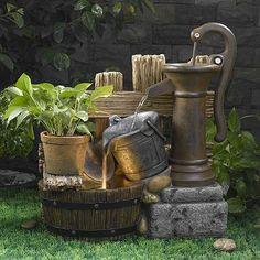 Pump & Pail LED Water Fountain