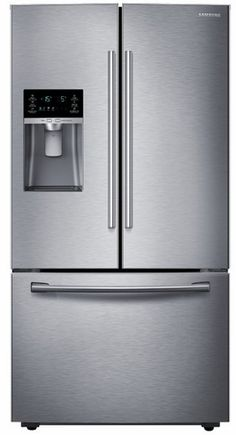 """RF23HCEDBSR Samsung 36"""" Wide, 23 cu. ft. Counter Depth Capacity French Door Refrigerator with Twin Cooling - Stainless Steel"""