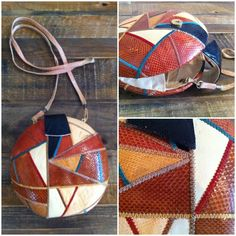 Leather Triangle Patchwork Bag