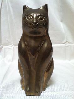 Brass Cat Figure Doorstop Bookend   eBay
