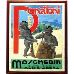 Anonimo Panettoni Mascherin - Addis Abeba Seconda metà degli anni Trenta del Novecento Bozzetto a tempera su carta, cm 100 x 70 [Grafiche G. Chiesa - Udine]