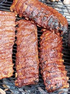 Sticky hoisin ribs | Jamie Oliver recipes Best Bbq Recipes, Pork Rib Recipes, Barbecue Recipes, Favorite Recipes, Bbq Ribs, Bbq Pork, Jamie Oliver, Sticky Pork Ribs, Baby Back Pork Ribs