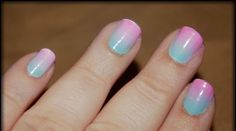 gradient nails. love the colors together!