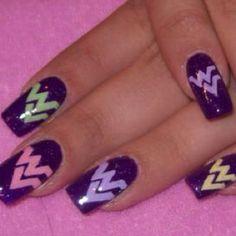 WVU nails