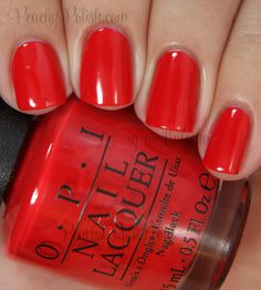 "OPI's ""Coca-Cola Red"""