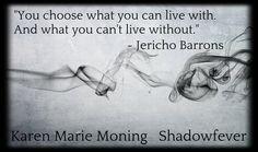 "Jericho Barrons, MacKayla ""Mac"" Lane, and Dani O'Malley #Shadowfever #FeverSeries #KarenMarieMoning #KMM"
