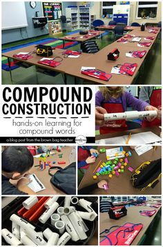 Such a FUN way to teach Compound Words: Construction Style - The Brown Bag Teacher