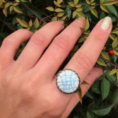 Snowflake Ring, Snowflakes, Ring Pictures, Months In A Year, Glaze, Initials, Gemstone Rings, Ceramics, Sterling Silver