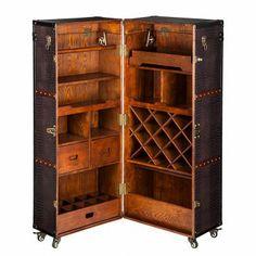 Armoire coffre Colonial - Bar