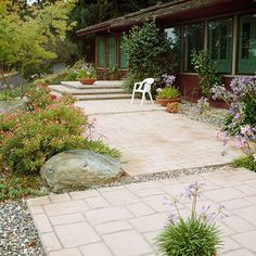 Stamped Concrete     Cost: Moderate.  Installation: Best left to professionals  Maintenance: Power-wash occasionally to remove moss or grime; apply a concrete sealer to prevent moisture damage