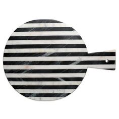 product image for Thirstystone® Striped Marble Round Cheeseboard in Black/White