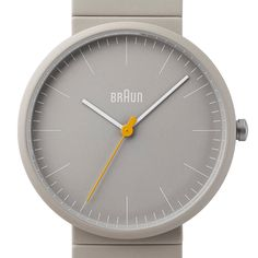 Braun BN0171 (stone grey) watch by Braun. Available at Dezeen Watch Store: www.dezeenwatchstore.com