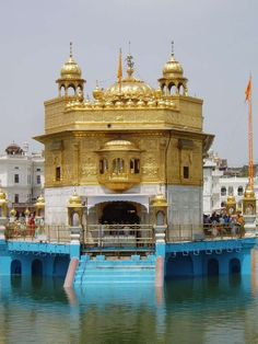 The Golden Temple–or the Abode of God–is a sacred Sikh shrine located in Punjab, India. Construction of the stunning temple began in the 1500s when the fourth Guru of Sikhism enlarged the surrounding lake. Adorned with marble sculptures, gold and precious stones, the temple is said to symbolize infinite freedom and spiritual independence.