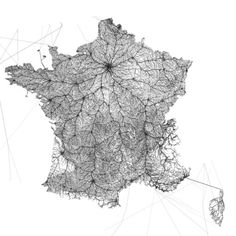 All roads from Notre-Dame de Paris, France.Details with high resolution map >>