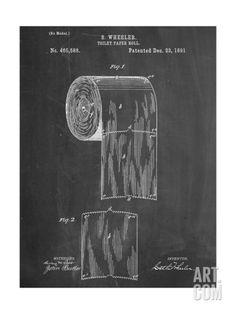 Plan d'un rouleau de papier toilette