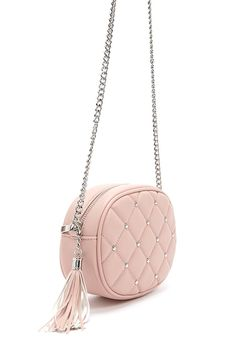 Product Name:Quilted Faux Leather Crossbody Bag, Category:ACC_Handbags, Bags For Teens, Girls Bags, Cute Purses, Purses And Bags, Stylish Backpacks, Leather Backpacks, Pink Shoulder Bags, Cute Bags, Luxury Bags