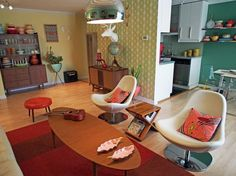mid century modern apartment - Google Search