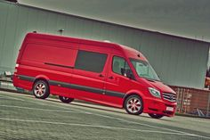 """Mercedes' Refreshed Sprinter gets a """"Red and Racy"""" Makeover by Hartmann - Carscoops"""