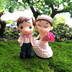 4Pcs/Set Kawaii Zakka Romantic Wedding Bouquet Lover DIY Pot  Micro Landscape Gardening Ornament Home Decoration Accessories