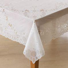 Crochet Lace Vinyl Tablecloth-60x90 Oblong