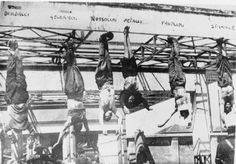 Execution of Mussolini and his mistress