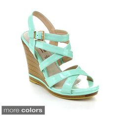 Women's Espadrille Strappy Wedge Sandal - Overstock Shopping - Great Deals on Wedges