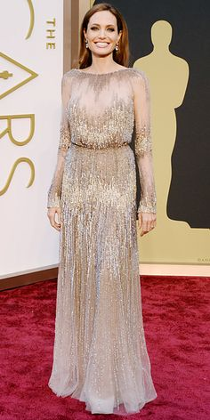 Glitter and pleats! Eric Wilson's 10 Best-Dressed at the 2014 Oscars - 1. Angelina Jolie from #InStyle