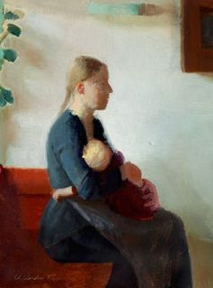 "Danish artist Anna Ancher (1859-1935) ""Young mother with her child"", 1887 © Courtesy Collection Skagens Museum, Skagen, Denmark"