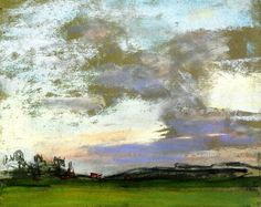 Landscape - Claude Oscar Monet - Pastel Ce n'est pas vraiment mon Ventoux, mais ce ciel est trop beau !