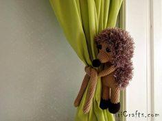 Hedgehog curtain tie backs, Animal tie back, Hedgehog gift, Nursery curtains decoration, Baby shower gift, Newborn gift, New baby gift, Hedgehog tie back, Curtain tie back, Nursery tie back, Nursery decoration, Kids curtain, Nursery curtains, Baby curtains decor, Animal tie backs, Curtains,