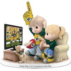 Precious Moments Green Bay Packers Fan Porcelain Figurine | eBay