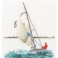 Thea Gouverneur counted-cross-stitch Kit Sailing On Linen