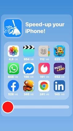 Clean-up your iPhone with Smart Cleaner App! Period Tracker App, How To Clean Iphone, Ibotta App, Cleaning Master, Iphone Life Hacks, Iphone Layout, Phone Organization, Shopping Hacks, App Development