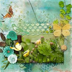 Digital Scrapbooking, Layout, Smile, Spring, Green, Projects, Art, Log Projects, Art Background