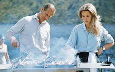 The Duke of Edinburgh and Princess Anne preparing a barbecue on the Estate at Balmoral Castle in 1972 (Getty)