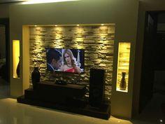 Niche Design, Tv Unit Design, Wall Design, Tv Wall Decor, Barbershop Design, Chimney Breast, Wall Niches, Casa Ideal, Front Rooms
