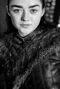Arya Stark played by Maisie Williams in Game of Thrones Maisie Williams, Arte Game Of Thrones, Game Of Thrones Funny, Winter Is Here, Winter Is Coming, Jon Snow, Game Of Trone, My Champion, The North Remembers