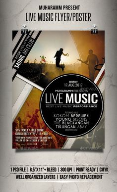 Live Music #Flyer / Poster - Events Flyers