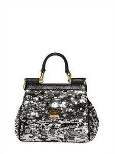 8e60cd34189cc5 Dolce  amp  Gabbana - Mini Sicily Sequined Shoulder Bag